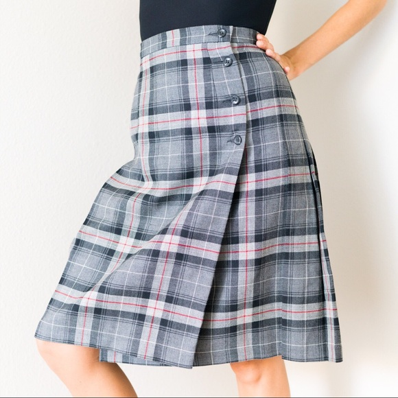 7c3f24053 Pendleton Skirts | Vintage Plaid Pleated Wool Skirt | Poshmark